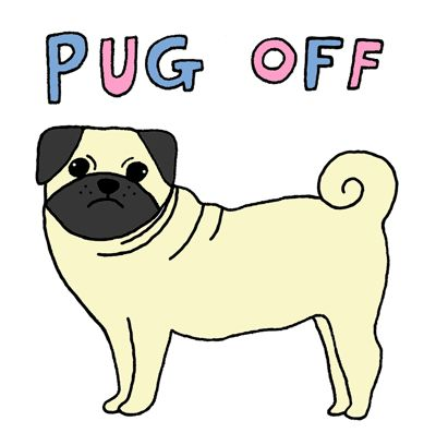 Cartoon Pug via yippywhippy ) pugs...pugs....pugs