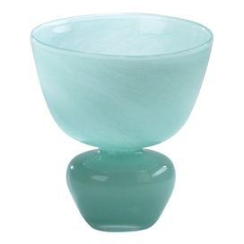 Bring chic appeal to your home decor with this stylish selection, hand-picked by blogger and author Ronda Rice Carman.  Product: VaseConstruction Material: GlassColor: TurquoiseDimensions: 8 H