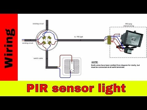 how to wire pir sensor light youtube electrical wiring how to wire 2 motion sensors in parallel/series diagram motion sensing light installation & repair
