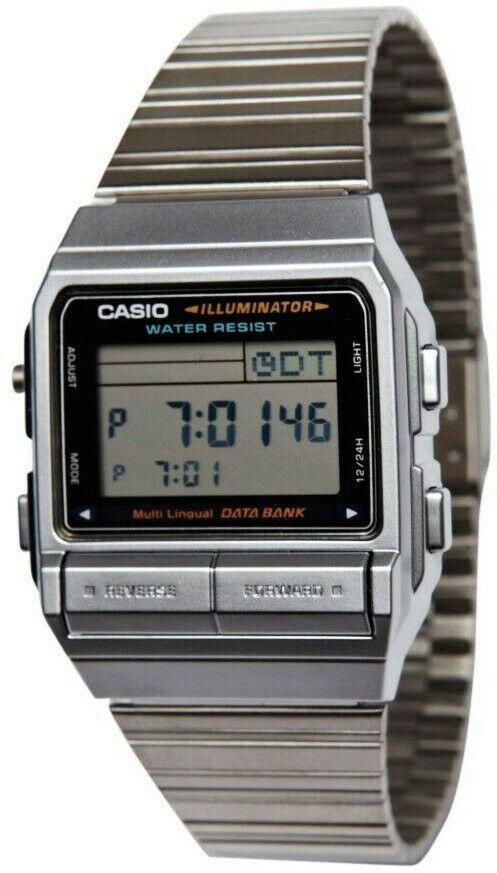 Montre Neuf Casio DB 380G 1DF de 30 Telememo 5 Alarmes Homme