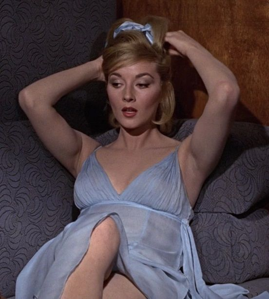 "Daniela Bianchi in the 1963 James Bond film ""From Russia with Love,"" the second…"