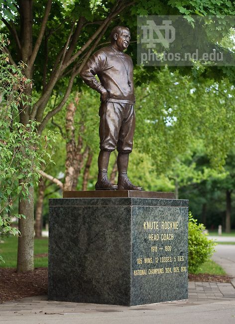 Knute rockne, Coaches and Statue on Pinterest