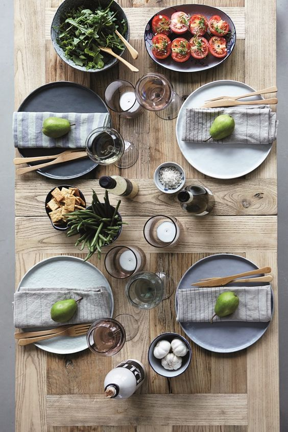 Great idea | Table decoration for a fancy Sunday bunch with friends and family.