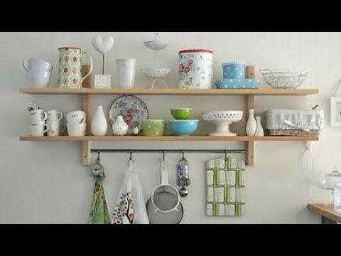 هل تعانين من مشكلة التخزين فى المطبخ اليكى الحل افكار لعمل رفوف مطابخ عمليه وبسيطه ارفف مطابخ2018 Youtube Shelves Decorating Shelves Diy Kitchen Shelves