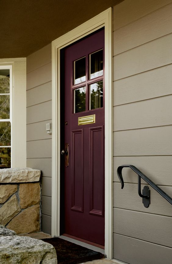 Plum front door coloring the front door meanings and Gray front door meaning