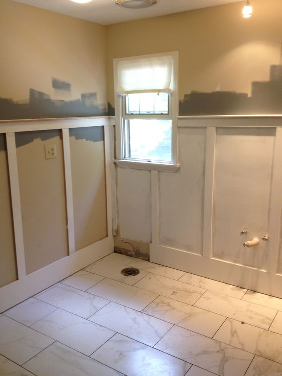 Wainscoting during bathroom renovation my bathroom - Bathroom remodel ideas with wainscoting ...