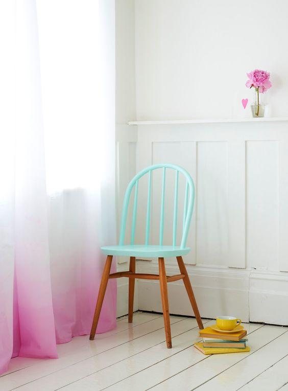 curtains + chair
