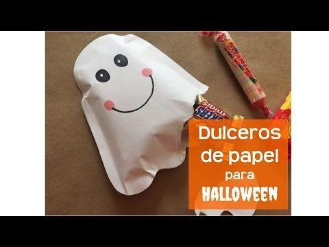Cómo hacer dulceros de papel para Halloween | Creativa Official