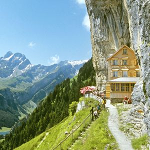 Swiss Alps, Berggasthaus Aescher. CHECK! One of the most beautiful places I've ever been :)