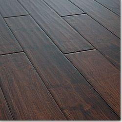 Wide Plank Flooring | love wide plank bevel edged hand scraped dark wood flooring