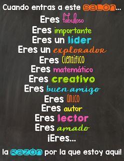 M&M Bilingual: Classroom Posters in Spanish… verbo #SER