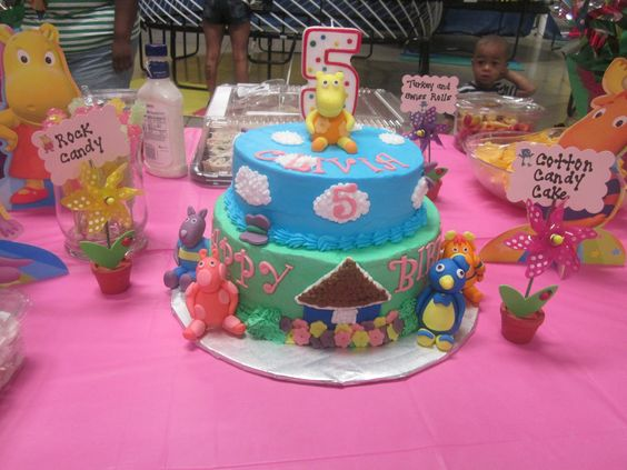 Pinterest the world s catalog of ideas for Backyardigans party decoration