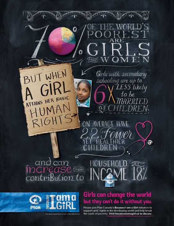 "What is the ""Day of the Girl Child"" and why? Because equal rights for girls is the key to ending world poverty, that's why.:"
