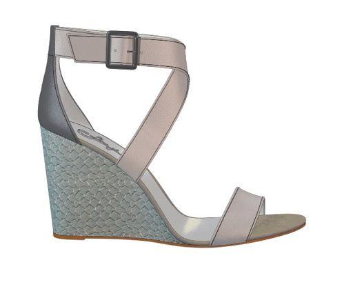 Seaside spa-inspired wedges designed on Shoes of Prey