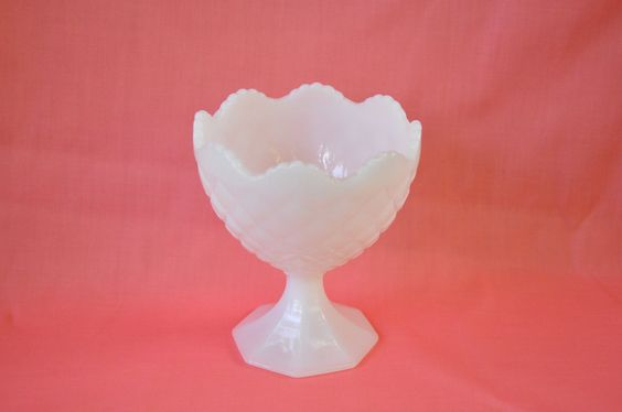 Napco Milk Glass Pedestal Vase  $25.00