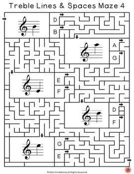 Music Puzzles!!   There are 36 music mazes based on the pitch of the treble lines & spaces from middle C to A above the staff. | Music theory |        ♫ CLICK through to read more or repin for later!  ♫