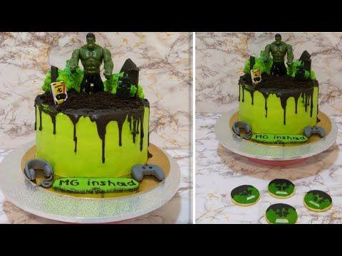 Make Your Hulk S Cake Simply And Make Your Children Happy اصنعي كيكة هالك بكل بساطه واسعدي اطفالك Youtube Hulk Cakes Cake Desserts
