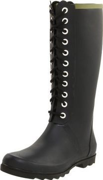 Chooka Women's Noir Lace-Up Rain Boot on shopstyle.com