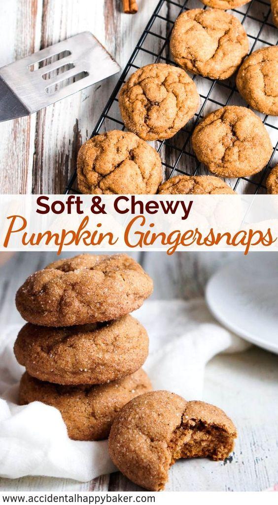 Pumpkin Gingersnap Cookies - Thanksgiving Dessert Recipe