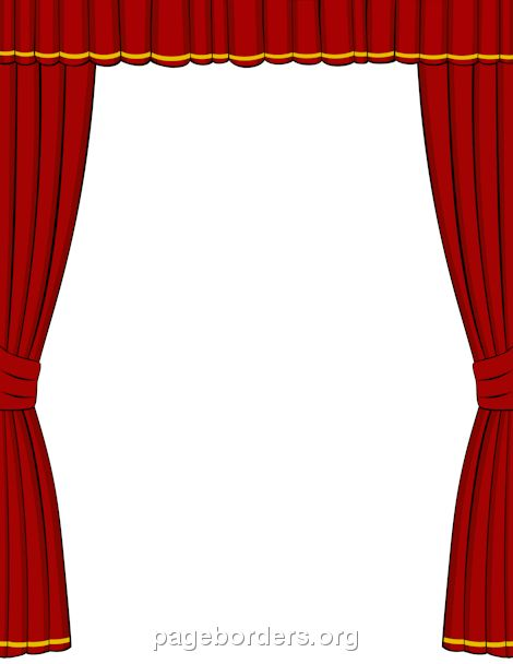 microsoft word  microsoft and curtains on pinterest Theater Masks Theatre Clip Art Borders