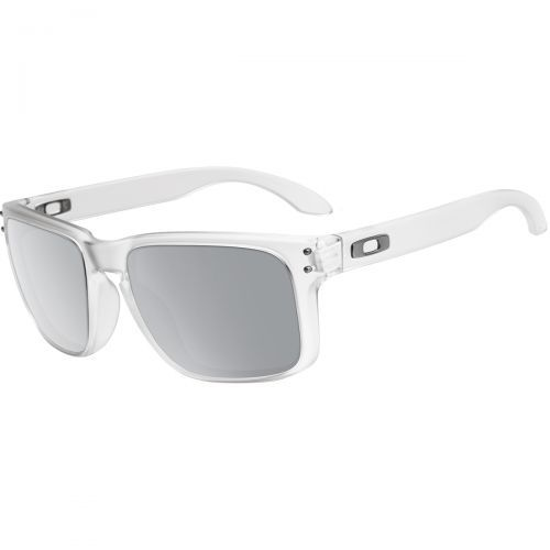 oakley glass color  oakley holbrook men's sunglasses, color: matte clear/chrome iridium, category/department