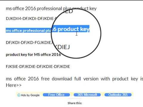 Ms Office 2016 Professional Plus Product Key Ms Office Google Free Youtube