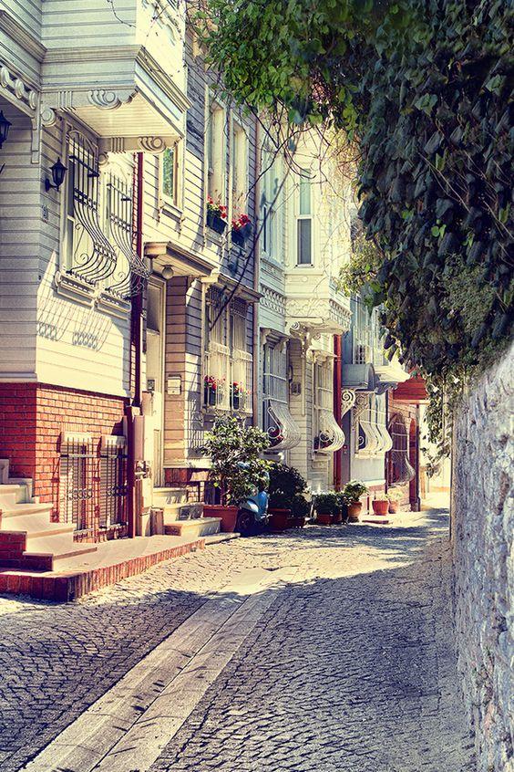 Barrio de Arnavutköy, Estambul, Turquía