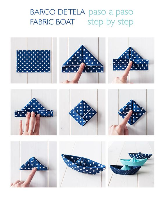 barcos de tela / fabric boats (english translation) :: la gata con botas