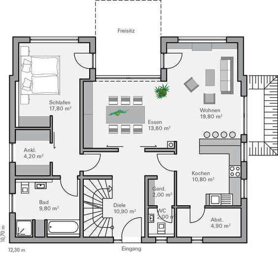 Grundriss EG Rothe  Grundrisse  Pinterest  Haus, Haus ...