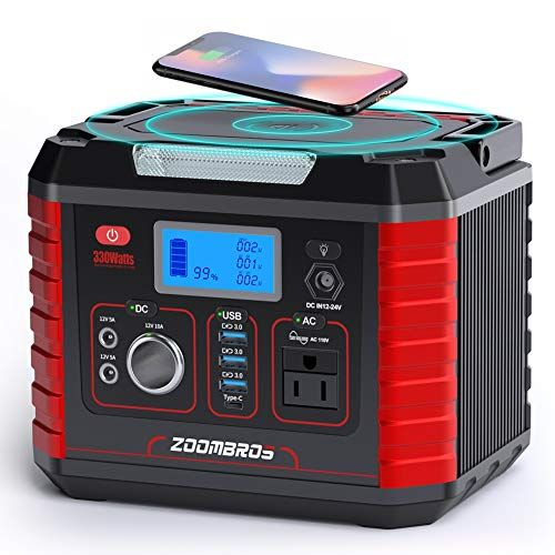 Zoombros 330w Portable Power Station 289wh Solar Generator Lithium Power Supply With 110v Ac Outlet 12v 1 Portable Solar Power Portable Power Solar Generator