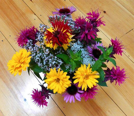 A beautiful bouquet from the garden