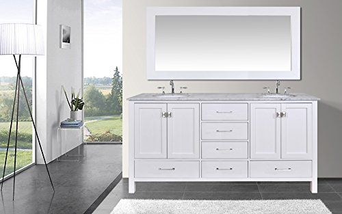 Special Offers - Stufurhome GM-6412-72PW-CR-M71 72-Inch Malibu Pure White Double Sink Bathroom Vanity with 71-Inch Mirror Review - In stock & Free Shipping. You can save more money! Check It (December 31 2016 at 11:37PM) >> http://bathroomvanitiesusa.net/stufurhome-gm-6412-72pw-cr-m71-72-inch-malibu-pure-white-double-sink-bathroom-vanity-with-71-inch-mirror-review/
