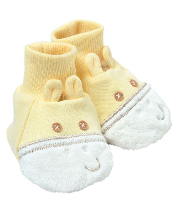 Baby Unisex Zebra Fun Booties – Yellow (One Size) | Hallmark Baby