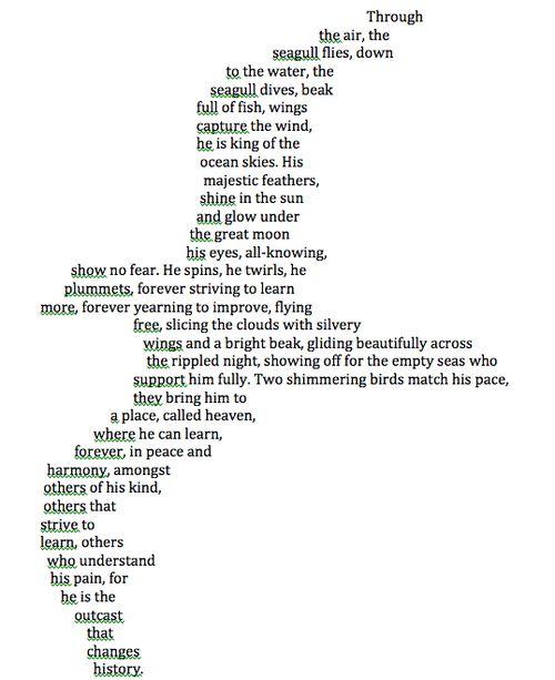 Concrete Poem (Grade 5)