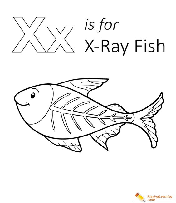 Letter X Coloring Page Fish Coloring Page Coloring Pages Animal Coloring Pages