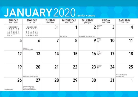 Large Print 2020 17 X 12 Inch Monthly Desk Pad Calendar Easy To See With Large Font Isbn Desk Calendar Pad Printable Calendar Design Desk Calendar Template