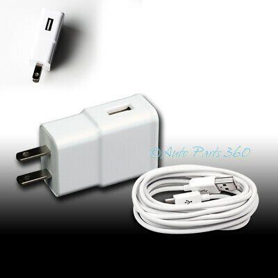 6X 2A TRAVEL ADAPTER+3FT MICRO USB CABLE WALL CHARGER WHITE GALAXY S4 S3 NOTE 2