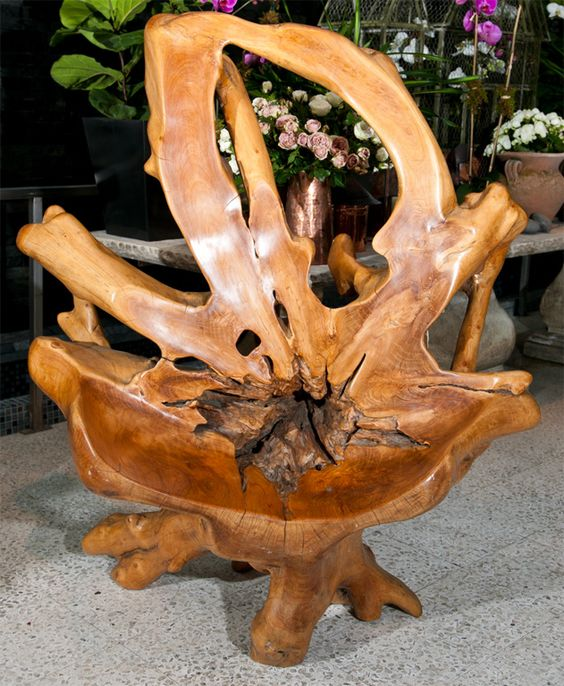 Chair Made From Teak Root Teak Chairs And Roots
