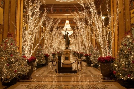 #Holidays in #NOLA at The Roosevelt Hotel #WaldorfAstoria: Christmas 2013, Favorite Places Spaces, Waldorfastoria Roosevelt120, Hotel Waldorfastoria, Christmas Lights, Luxury Hotels, Holiday Christmas