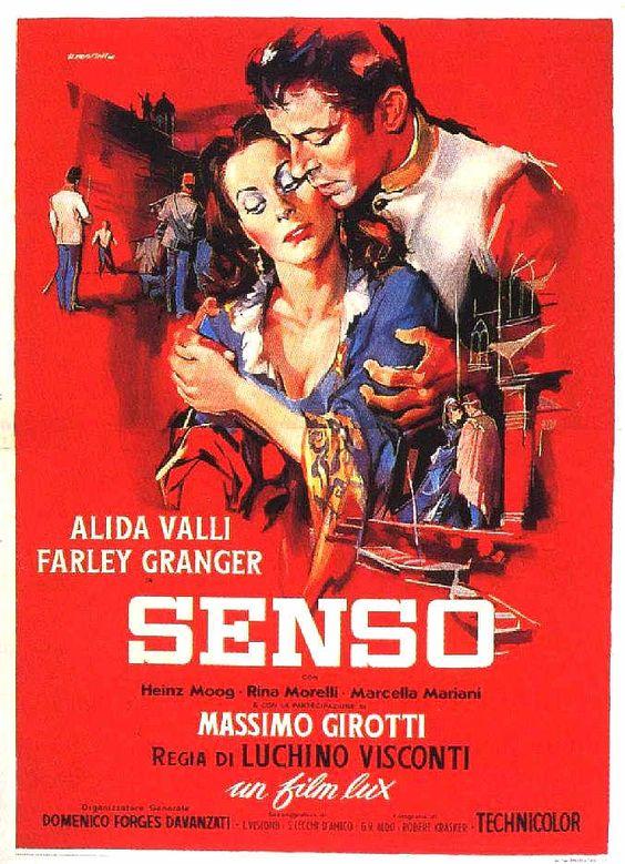 """Senso"" (1954). Country: Italy. Director: Luchino Visconti. Cast: Alida Valli, Farley Granger, Massimo Girotti, Rina Morelli"