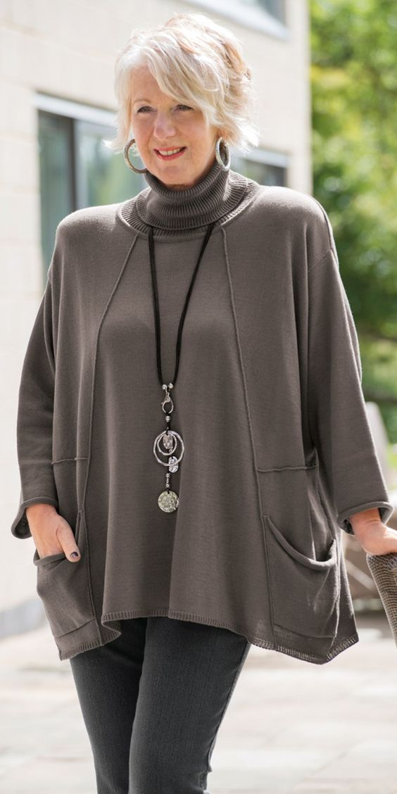 Lily Black taupe roll neck jumper - nice things on this website: