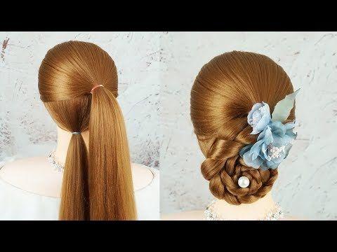 Very Easy Hairstyles For Beginners Side Braid Low Updo Wedding Hairstyle Low Bun Updo Tutorial Youtub Very Easy Hairstyles Braided Low Updo Updo Tutorial