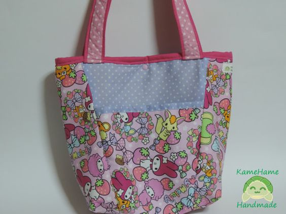Bolsa Sacola My Melody by KameHameHandmade on Etsy, ¥4462