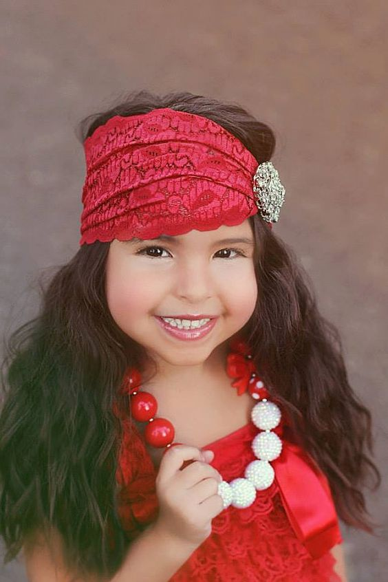 Tres Beau Rouge Shabby Bohemian Headband by baerlyfamous on Etsy