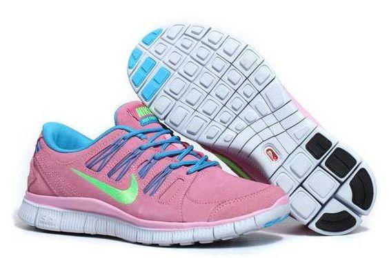 Nike Free 5.0 Anti Fur Damen Schuhe Rosa Blau
