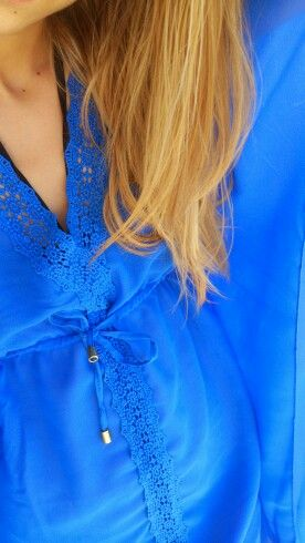 Blue dress#beach