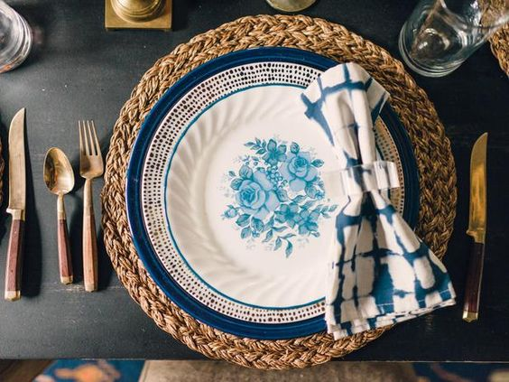 Old World indigo dyes are experiencing a major resurgence in home decor, tabletop accents and even designer fashion. Shibori tie dye, which is a Japanese technique using indigo dyes to create sophisticated blue-and-white patterns, is especially hot.: