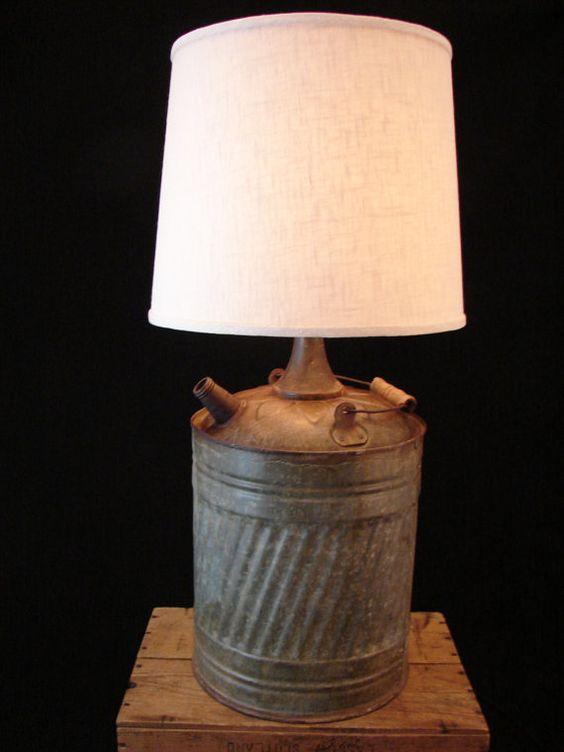 Rustic Kerosene Can Table Lamp Tables Rocks And Rustic