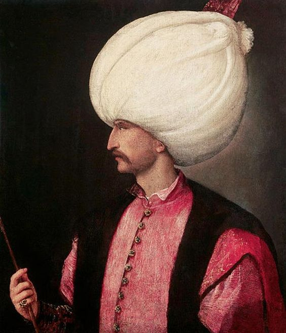 Portrait of Suleiman I, the tenth and longest reigning Sultan of the Ottoman…