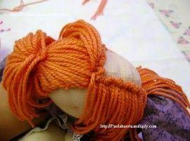 Волосы для куклы - МК в фотографиях